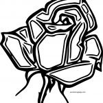 Rose Head Coloring Page