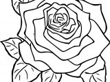 Rose Style Coloring Page
