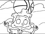 Rugrats All Grown Up Rugrats Basketball Ball On Head Coloring Page