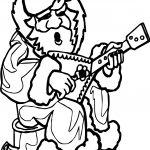 Santa Playing Guitar Playing The Guitar Coloring Page
