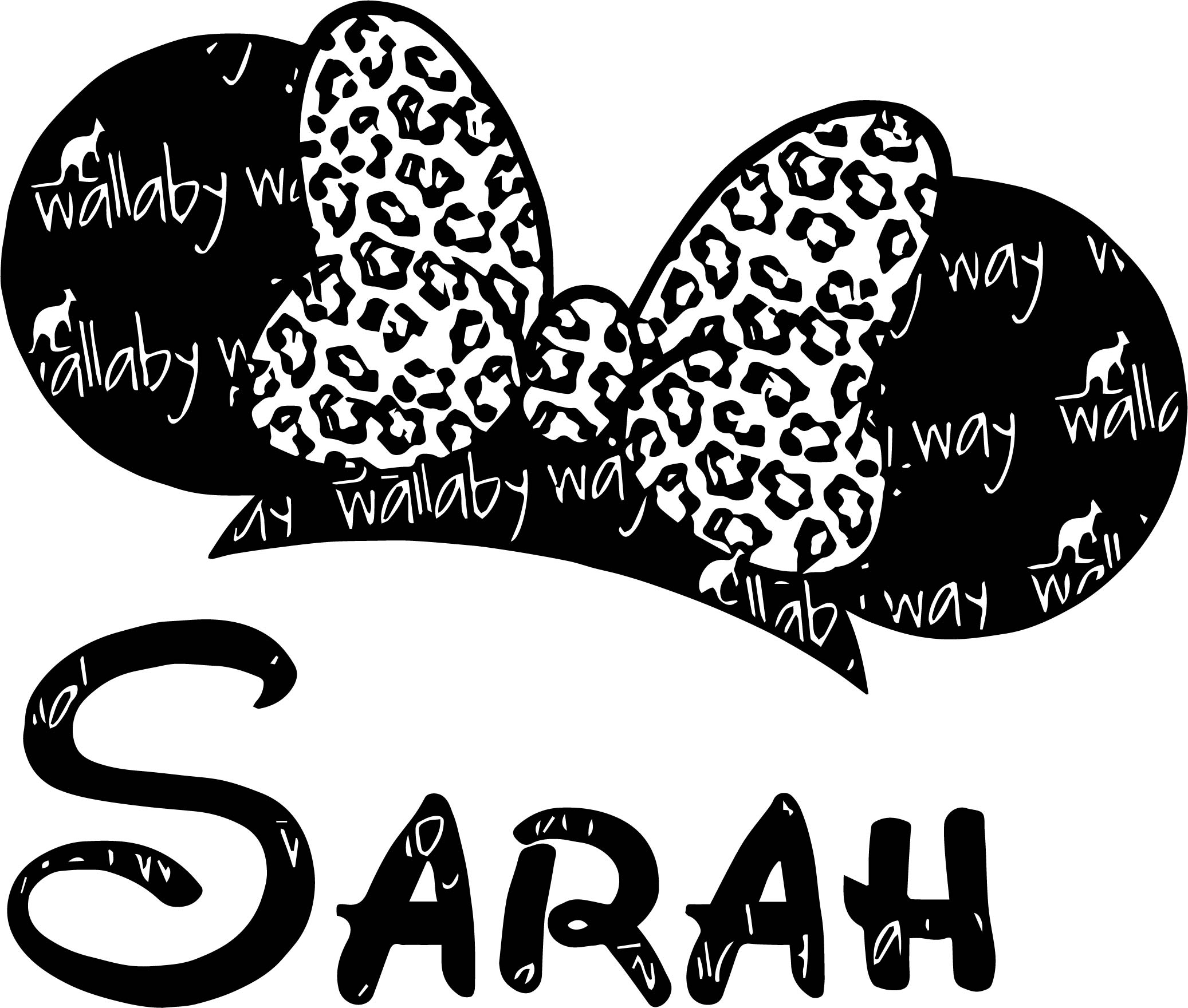 Sarah Bow Mickey Free Coloring