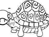 Scream Tortoise Turtle Coloring Page