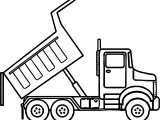 Scripted Dump Truck Coloring Page