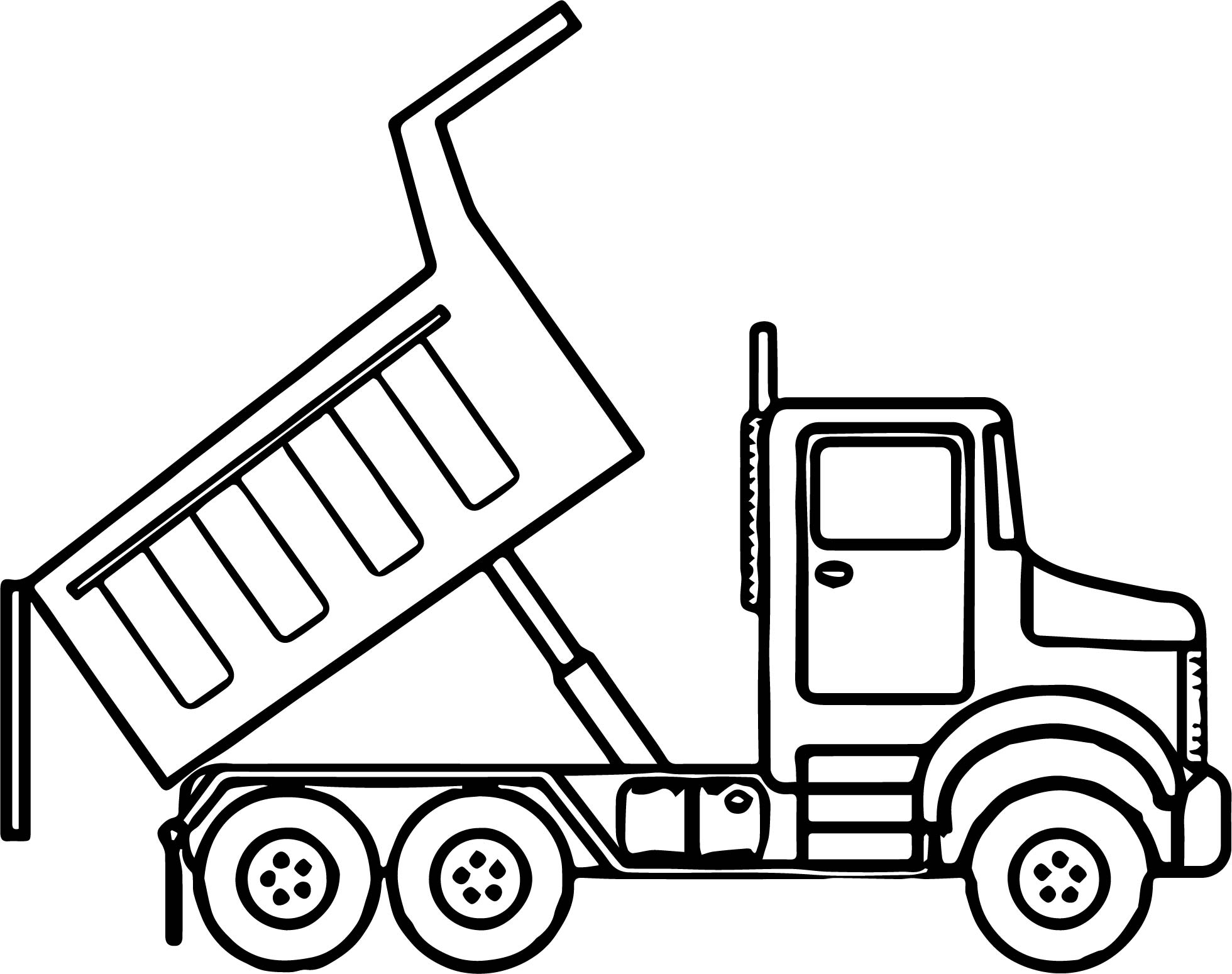 Garbage truck coloring book pages - Scripted Dump Truck Coloring Page Wecoloringpage