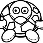 Sea Tortoise Turtle Comic Coloring Page