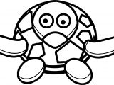 Sea Tortoise Turtle Comic Coloring Page