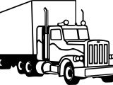 Semi Truck Coloring Page