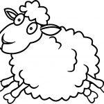 Sheep Jump Coloring Page