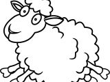 Sheep Jump Coloring Page