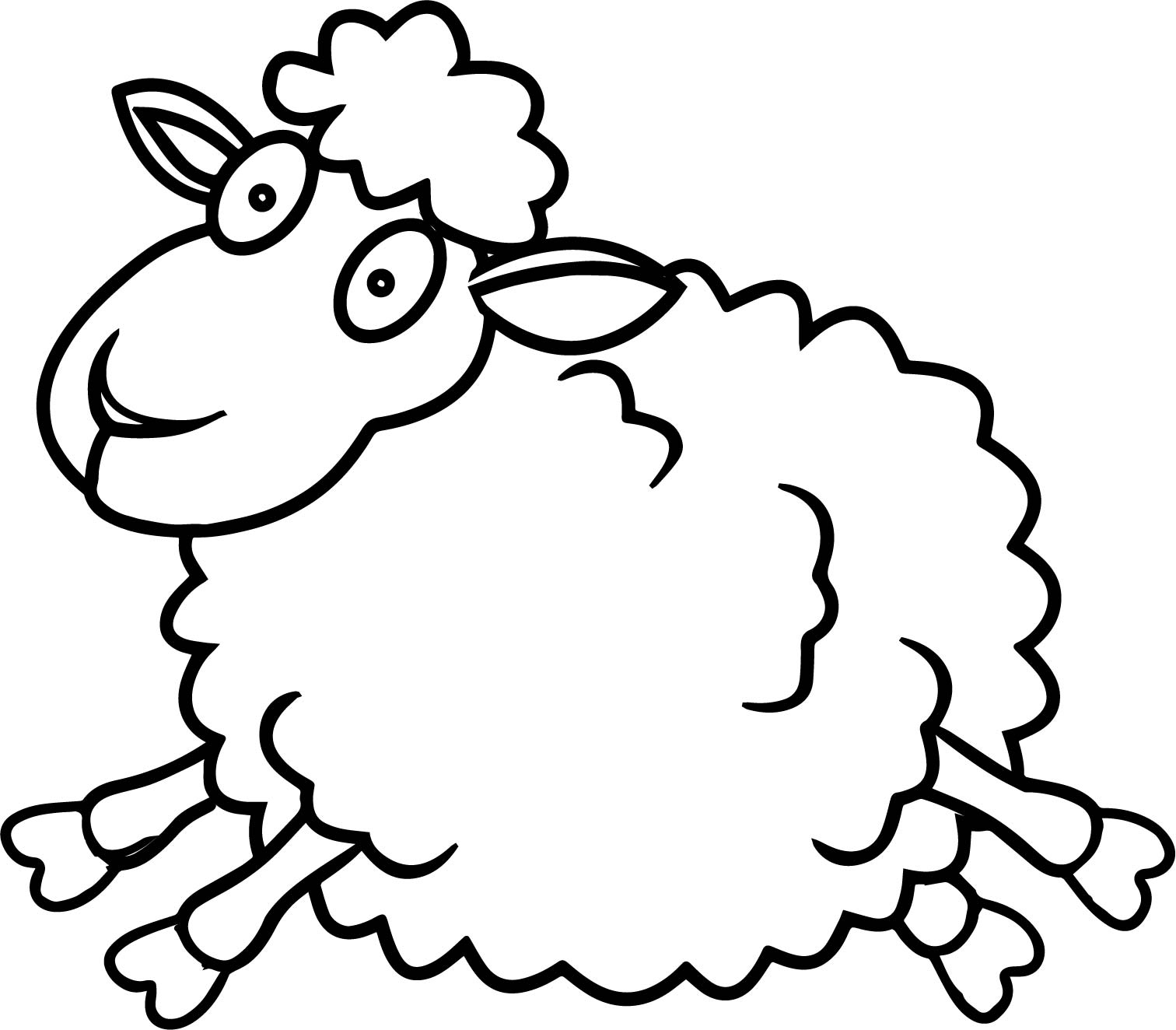 Sheep jump coloring page for Lamb coloring page