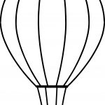 Side Air Balloon Coloring Page