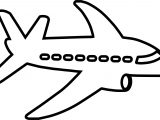 Side Outline Airplane Coloring Page