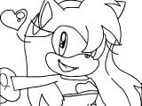 Simple Amy Rose Coloring Page