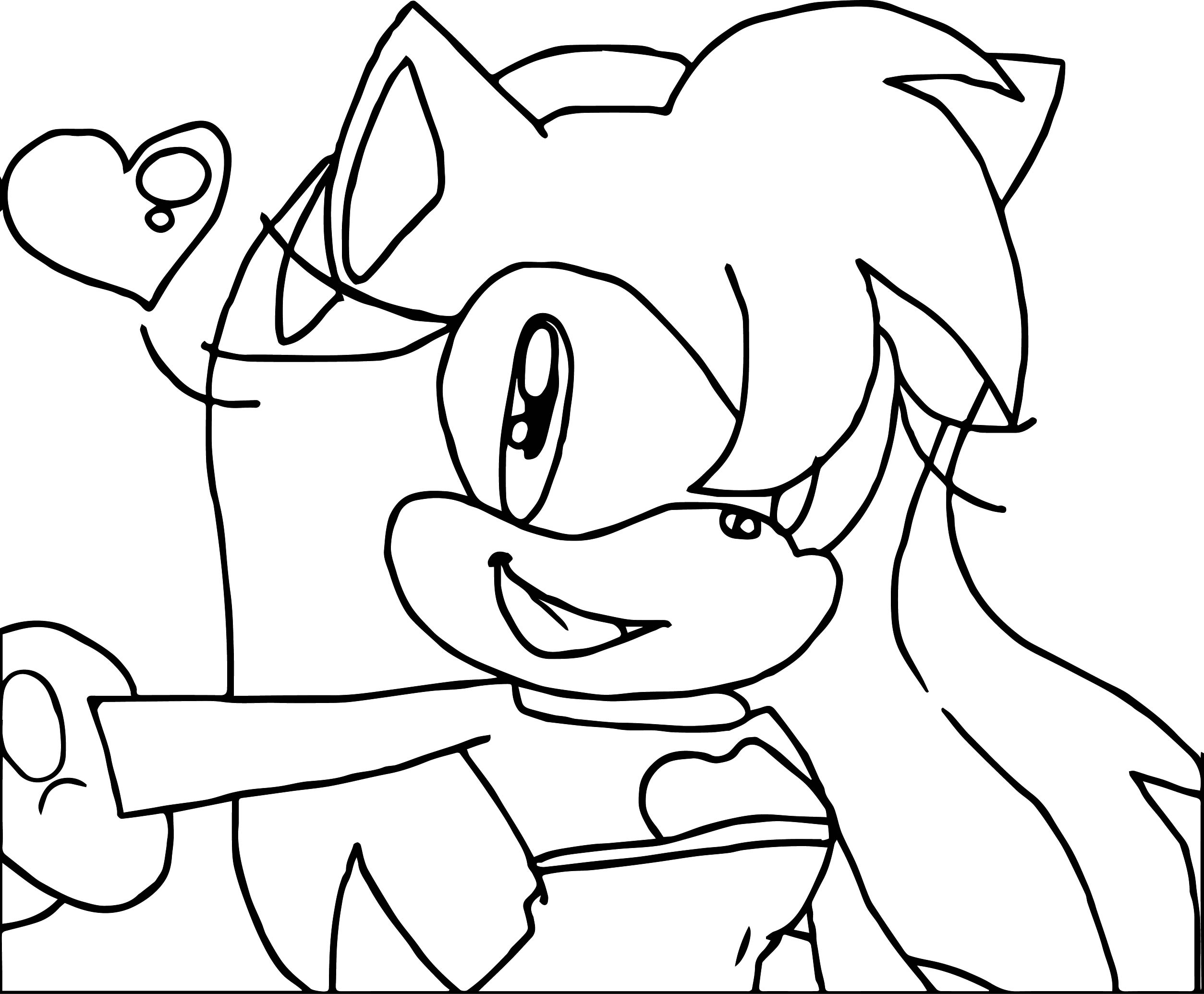 simple amy rose coloring page wecoloringpage