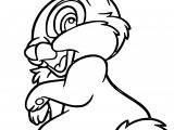 Simple Disney Bambi Thumper Bunny Cartoon Coloring Page