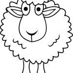 Simple Sheep Coloring Page
