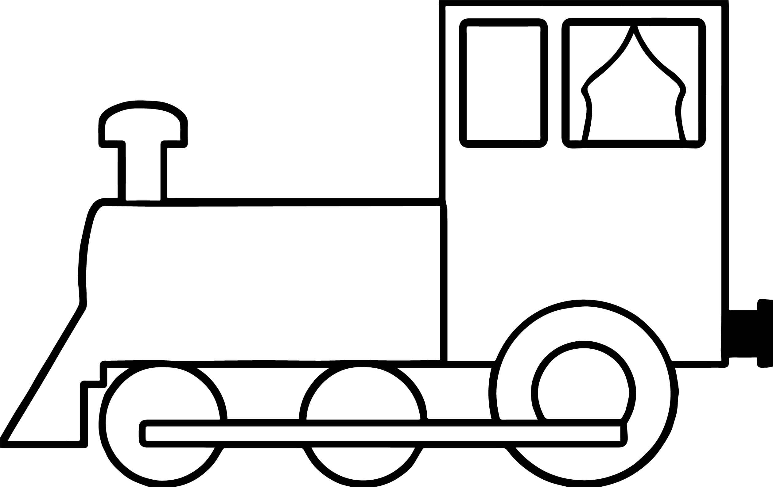 Simple train coloring page for Coloring page of a train