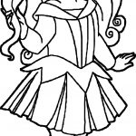 Small Kid Princess Coloring Page