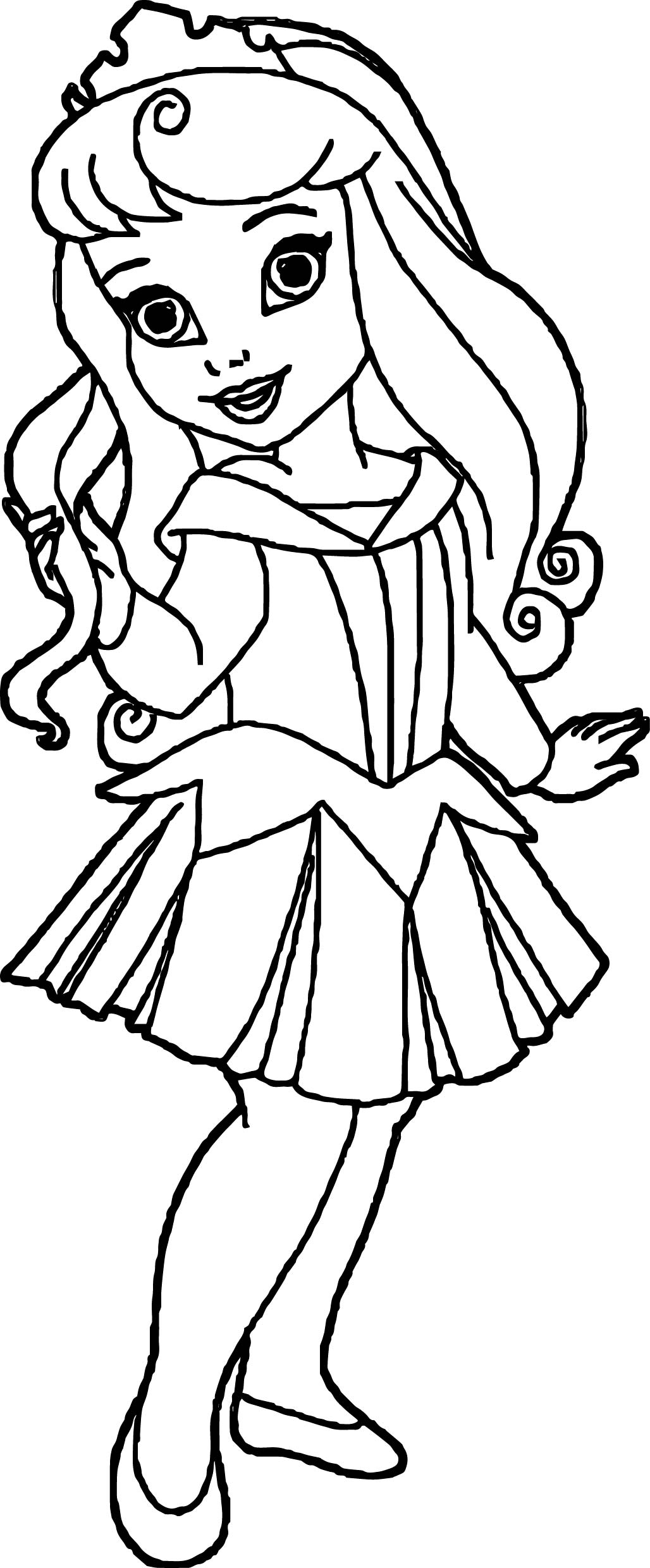 Small Kid Princess Coloring Page