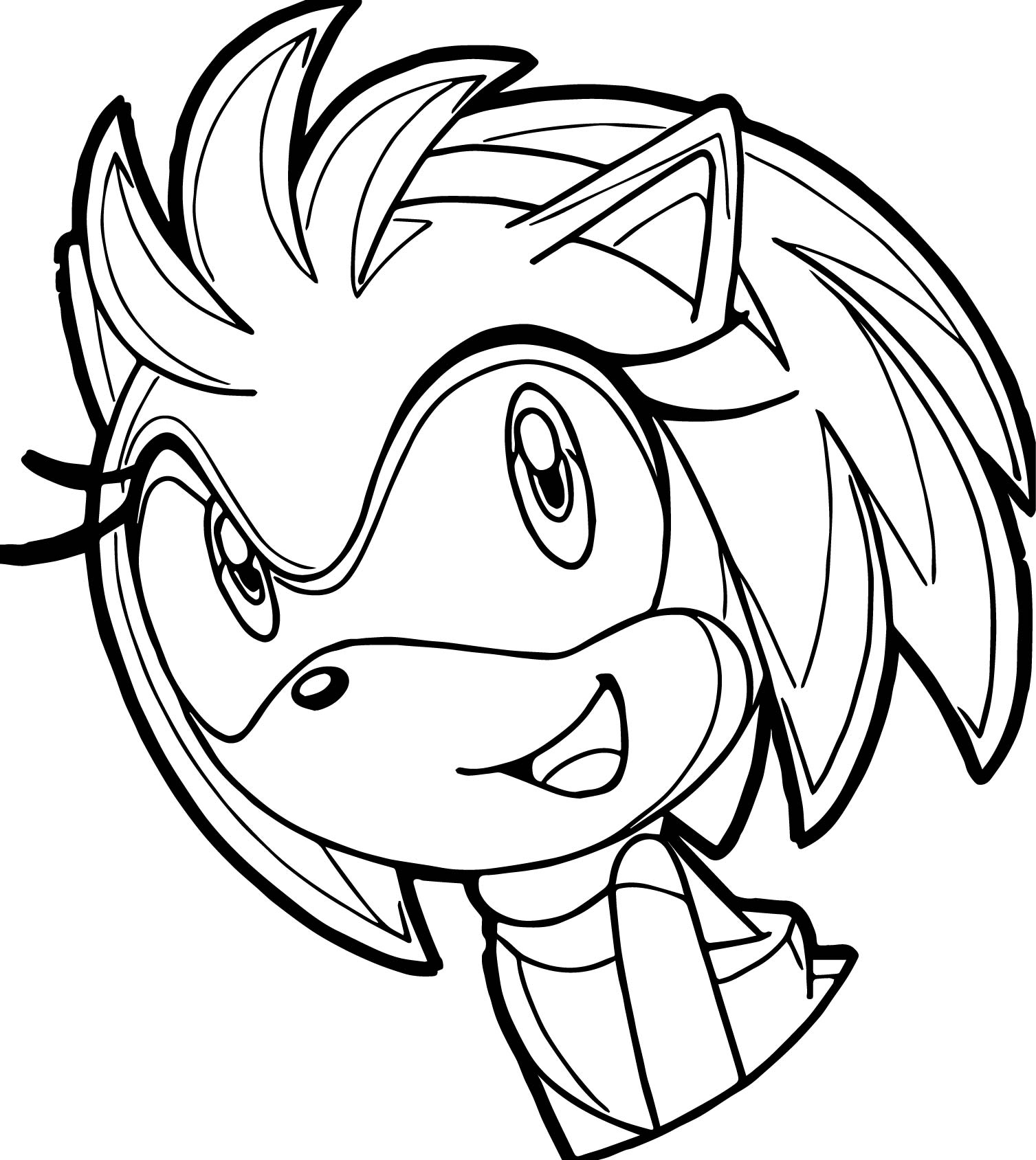 Cute Amy Rose Coloring Pages Princess Amy Rose Coloring