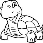 Smile Tortoise Turtle Coloring Page