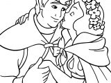 Snow White And The Kiss Prince Coloring Page