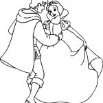 Snow White And The Prince Dancing Coloring Page