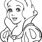 Snow White Girl Coloring Page