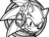 Sonic The Hedgehog Headphone Coloring Page