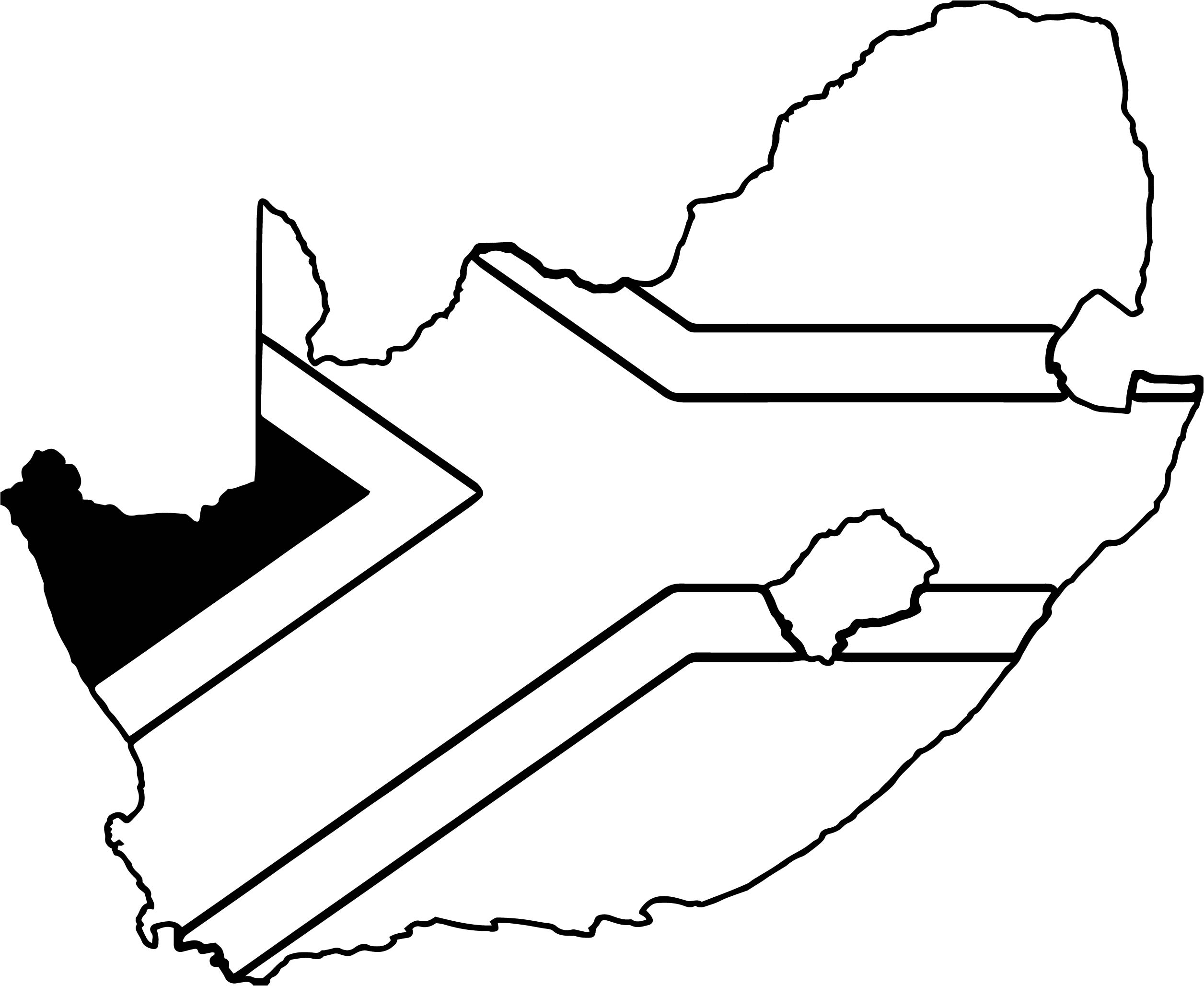 south africa map coloring page wecoloringpage