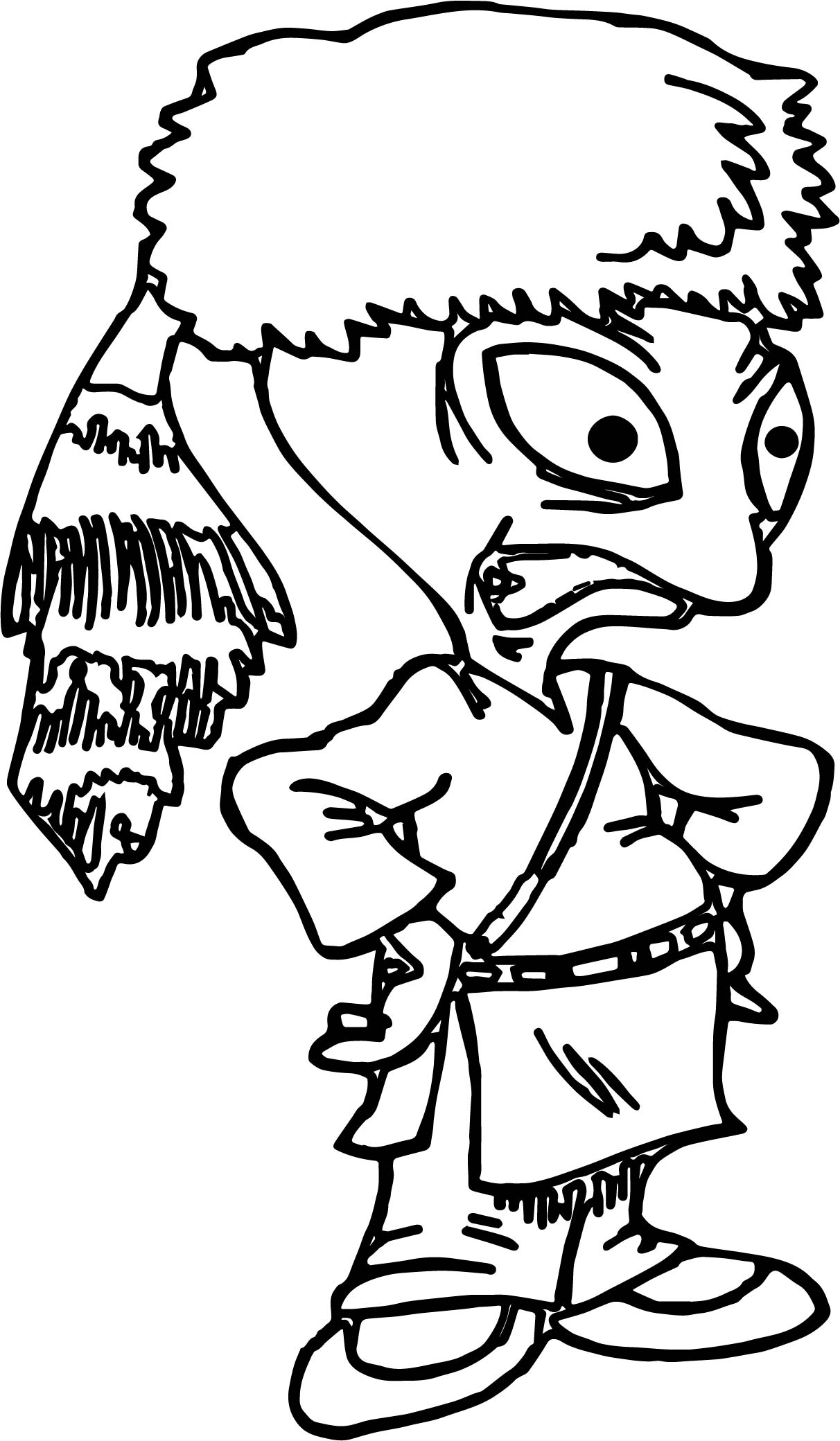 Space Alien Daniel Boone Coloring Page