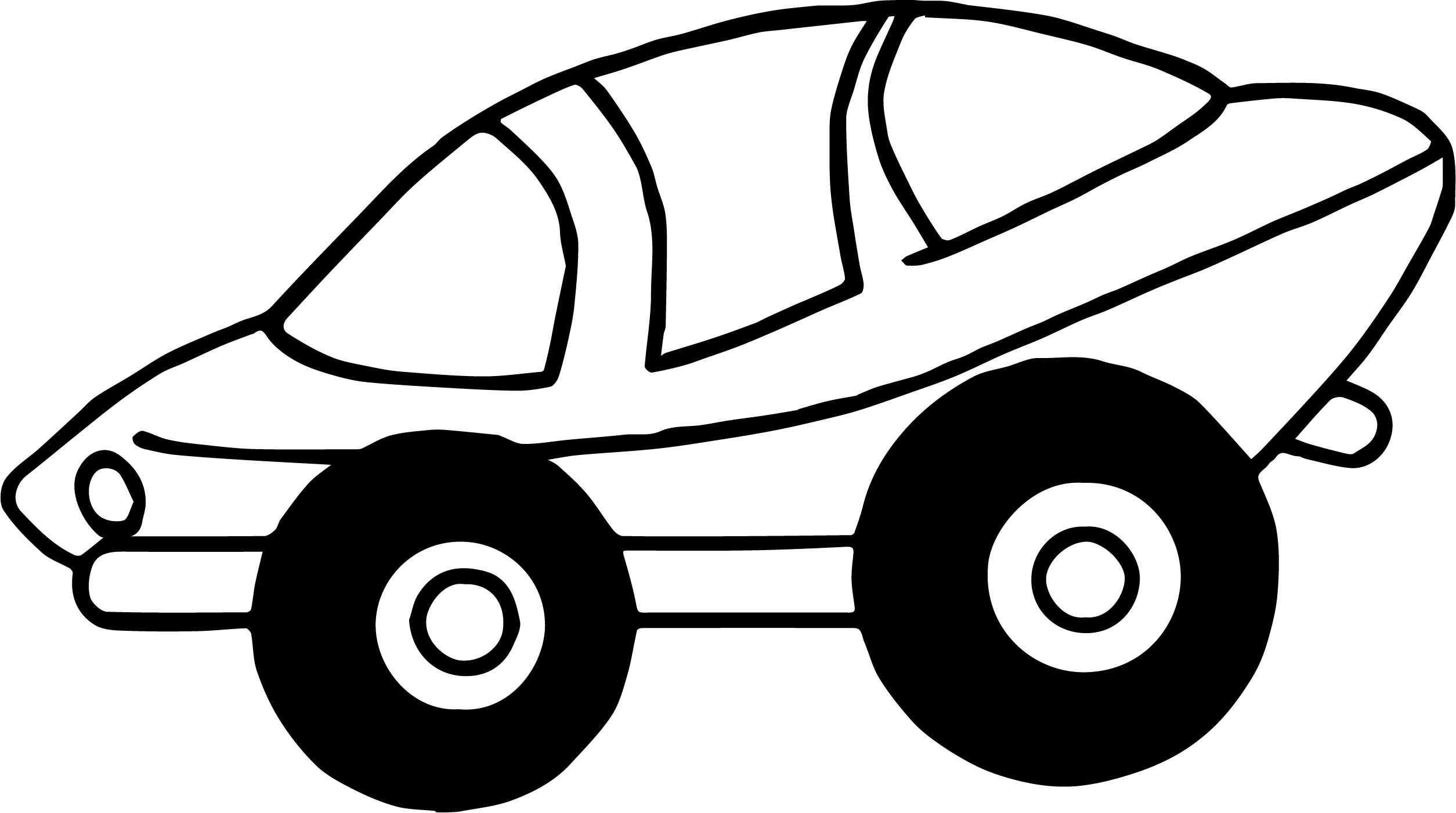 Space Toy Car Coloring Page