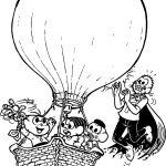 Spring Air Balloon Turma Da Monica Coloring Page