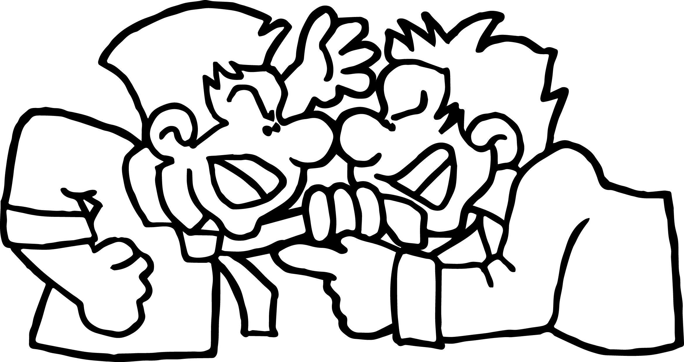 student conflict angry two people coloring page wecoloringpage