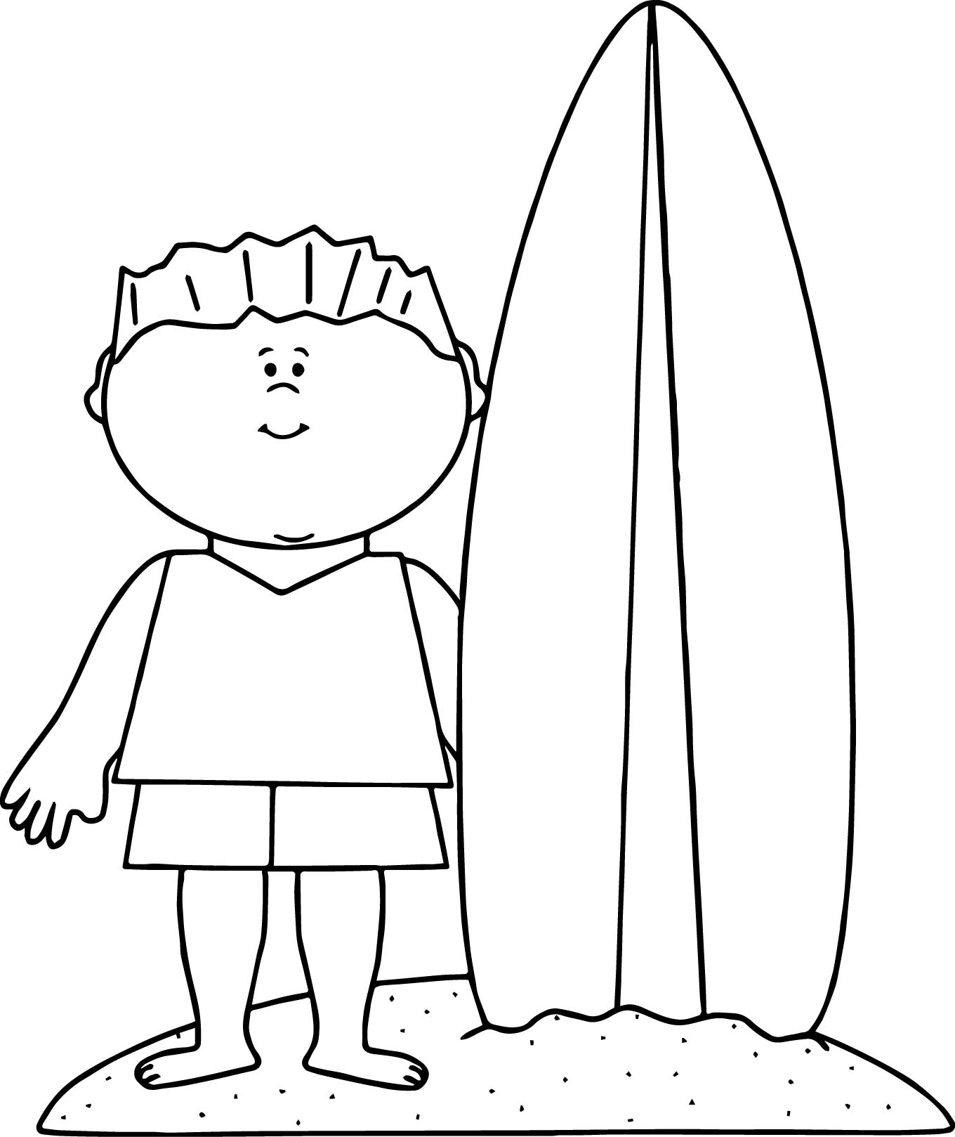 summer beach boy surfing coloring page wecoloringpage