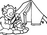 Summer Camp Coloring Page