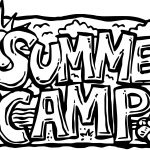 Summer Camp Text Coloring Page