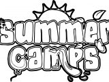 Summer Camps Text Coloring Page