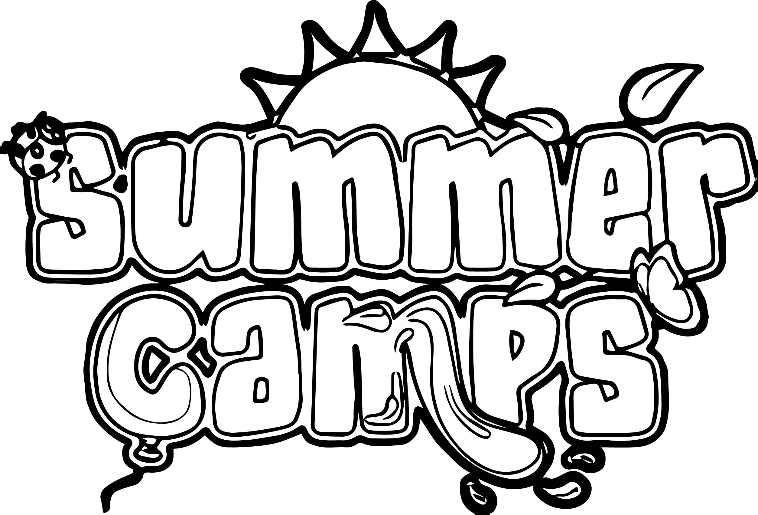 summer camp coloring pages - photo#10