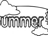 Summer Cloud Coloring Page