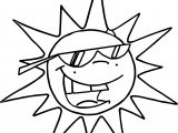 Summer Funny Sun Coloring Page