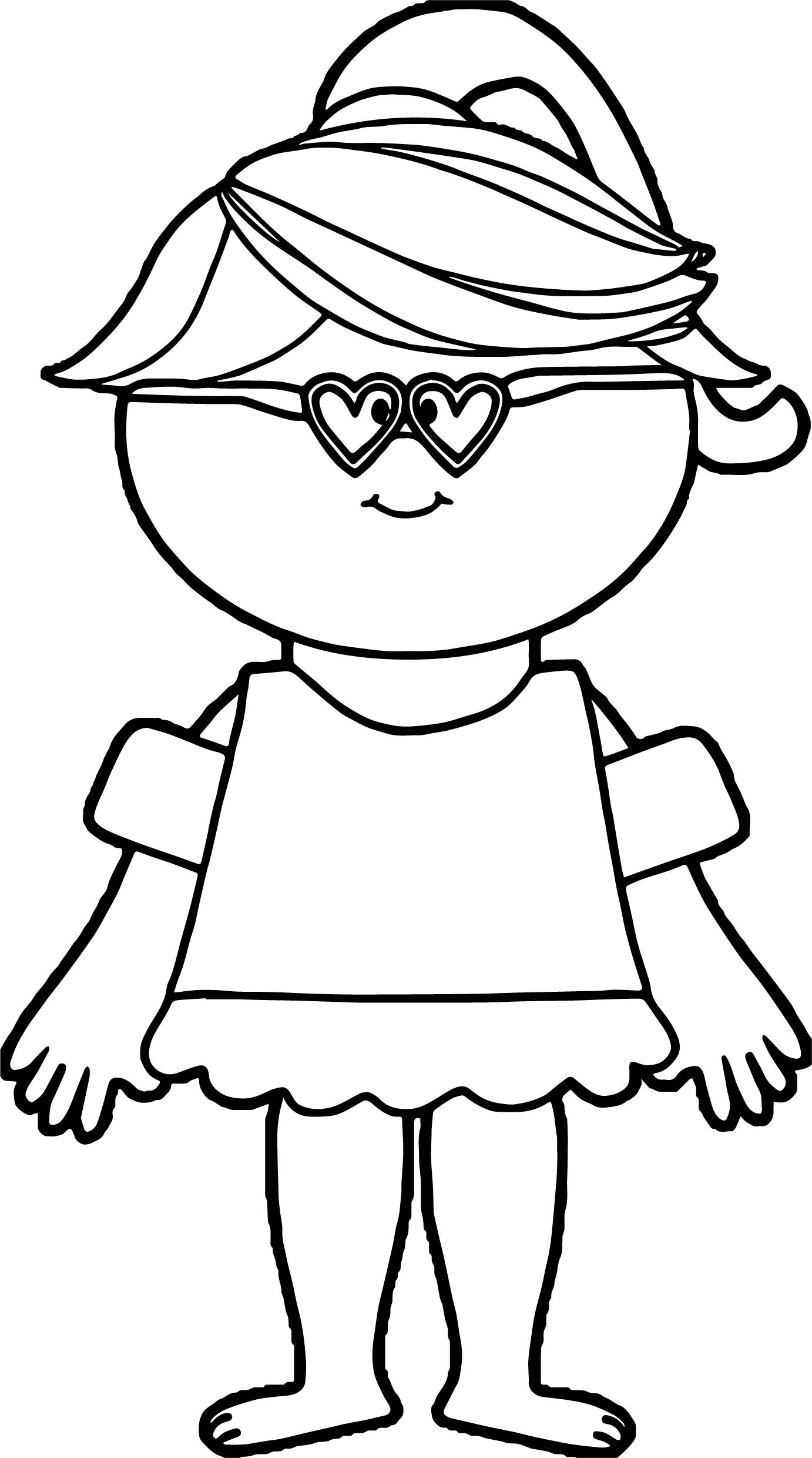 Summer Girl Coloring Page