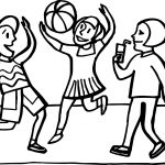 Summer Girl Playing Volleyball Coloring Page