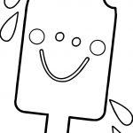 Summer Happy Cartoon Ice Cream Coloring Page