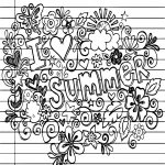 Summer I Love Heart Coloring Page