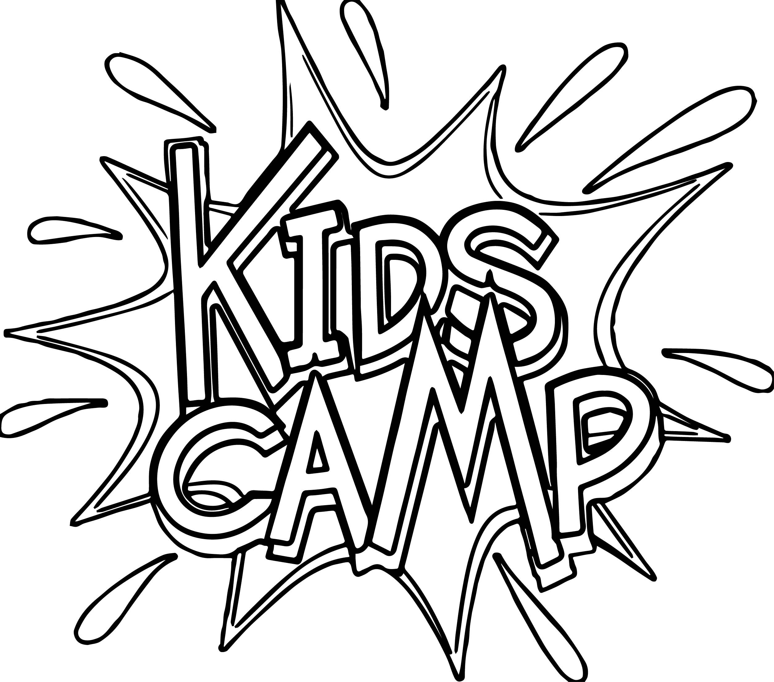 Swimming Camp Pages Coloring Pages