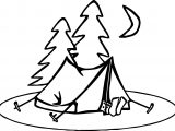 Summer Night Camp Coloring Page