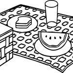Summer Picnic Coloring Page