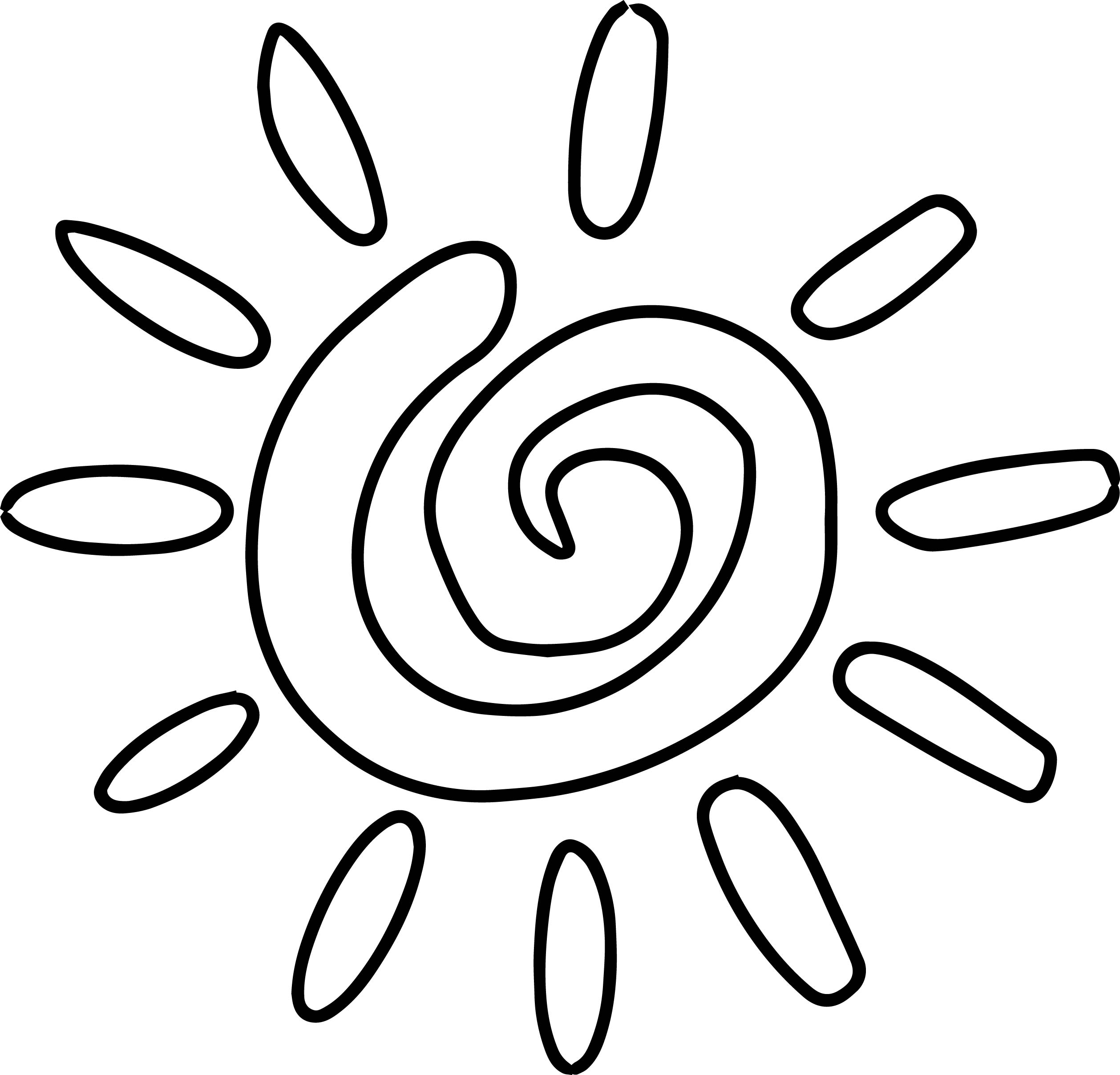Summer Shape Coloring Page