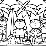 Summer Six Boy Coloring Page